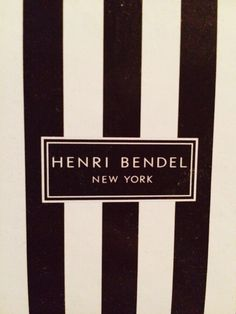 Great elegant simplicity to the Henri Bendel logo #fontsafari