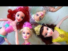 Color Changing Barbie Mermaid Lumina Color Magic Pearl Princess Disney Ariel Mermaids Water Show