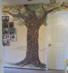 tree murals | Oak Tree Mural by Vanessa Barrett | ArtWanted.com