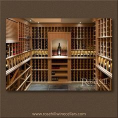 Custom #winecellar with custom #wine racks and presentation niche. #winestorage