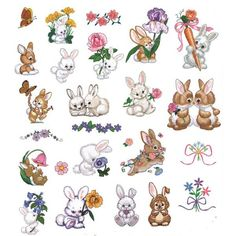 OregonPatchWorks.com - Sets - Licensed Morehead Collection: Bountiful Bunnies