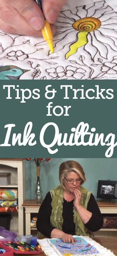 Heather Thomas demonstrates how to color in your quilt using markers. You will find this only takes about 3-4 hours. Also, get tips and tricks about the direction of your brush strokes plus how to blend two colors together.