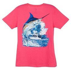 Misses Guy Harvey Marlin Boat T-Shirt $19.99