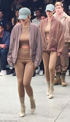 Bella Hadid and Kylie Jenner walk in Kanye West NYFW show #dailymail