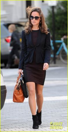 Pippa Middleton: E! True Hollywood Story on Wednesday! | pippa middleton ankle booties work 05 - Photo