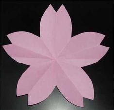 Origami Flowers, Paper Flowers Diy, Origami Art, 3d Paper, Paper Crafts, Sakura Card Captors, Nichijou, Flower Template, Japanese Art