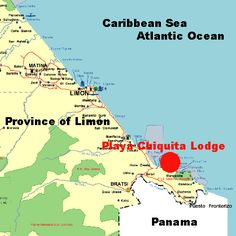 map of playa chiquita costa rica | click here for more detailed map]
