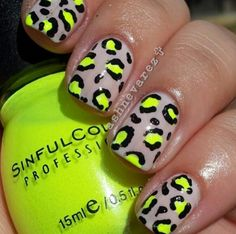 Colorful Cheetah Nails Best Designs