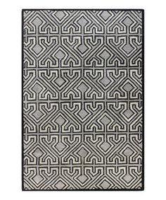 This Gray Xerses Wool Rug is perfect! #zulilyfinds