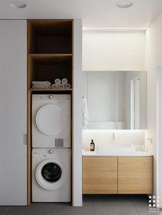 Modern Minimalist Bedroom Walk In minimalist bedroom ideas grey.Minimalist Decor Scandinavian Living Rooms minimalist home exterior stones. Laundry Room Bathroom, Laundry Room Design, Bathroom Layout, Modern Bathroom Design, Bathroom Interior Design, Modern Interior Design, Bathroom Ideas, Modern Bathrooms, Minimalist Bathroom Design