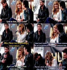 SO FUNNY!JOSH ALL THE WAY!