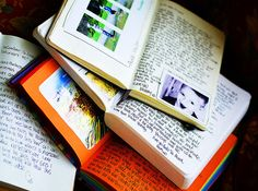 writing in journals... wow I love how there are pictures in this journal!