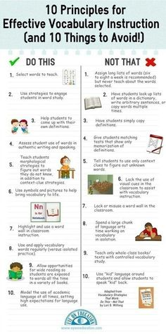 What does effective vocab instruction look like?