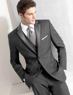 Grey Blazer Masculino Slim Fit Mens Suits Custom Made Wedding Groom Costume Homme Men Suit New Tuxedo (jacket+pants+vest, Men's Suits, Dress Suits, Best Wedding Suits, 3 Piece Suit Wedding, Wedding Attire, Men's Tuxedo Wedding, Wedding Tuxedos, Wedding Poses, Wedding Groom
