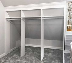 closet sloped ceiling closets More Schlafzimmer Schrank Design-Ideen 5 Mind Blowing Ideas: Cozy Attic Beds attic bathroom garage. Attic Bedroom Closets, Attic Closet, Attic Bathroom, Attic Rooms, Diy Bedroom, Closet Rod, Closet Wall, Trendy Bedroom, Garage Attic