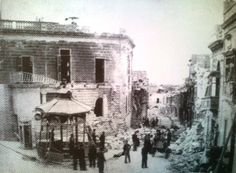 Near the Sliema police station, looking down on Prince of Wales Road. March 17 1942