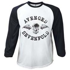 Avenged Sevenfold Men's Raglan/Baseball Tee: Classic Death Bat