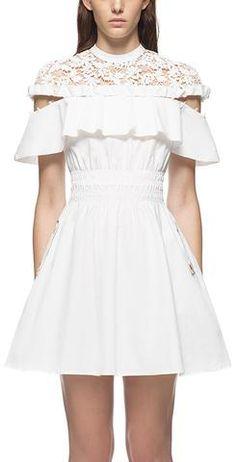 'Hudson' Mini Dress, White