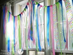 Easy Festive Crepe Paper Streamer Banner   Kids Birthday Party Ideas
