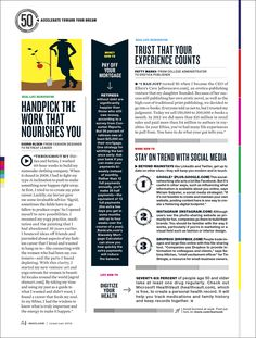 Reinvent Your LIfe at 60 - Jamie Prokell Magazine Layout Design, Magazine Layouts, Magazine Articles, Editorial Layout, Editorial Design, Typography Magazine, Journal Du Design, Print Design, Graphic Design