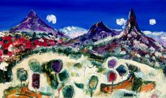 """""""Glass House Mountains II"""" 90cm x 150cm. For more information please contact REDSEA Gallery on (07) 3162 2230 © Stewart Westle"""
