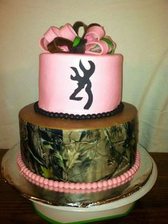 Birthday Cake Decorating Ideas For Girls Sweet 16 Baby Shower 52 Ideas Pink Camo Wedding, Camo Wedding Cakes, Country Wedding Cakes, Camouflage Wedding, Wedding Sweets, Camo Birthday Cakes, Sweet 16 Birthday, Birthday Cake Girls, Country Birthday Cakes