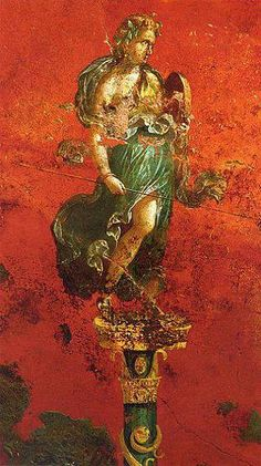 Fresco. (Detail)  Excavated from the third triclinium at the Inn of the Sulpicii, Murecine, Italy.