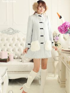winter wonderland furry coat $95 #asianicandy #japanesefashion #kawaii