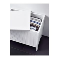 SILVERÅN Storage bench IKEA There's plenty of room inside the bench to store and organize your towels and other bathroom things.