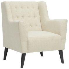Baxton Studio Berwick Linen Arm Chair Beige
