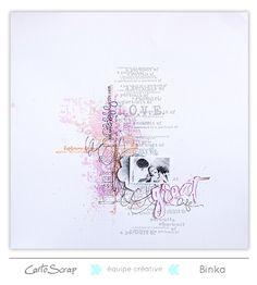 """Faites entrer la couleur"" - page de Binka - Blog de Cartoscrap"