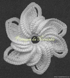 Pinwheel Flower free crochet graph pattern