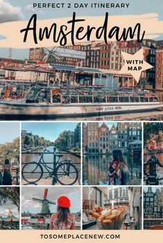 Perfect 2 days in Amsterdam Itinerary Amsterdam Netherlands- Amsterdam things to do in 2 days | Perfect Amsterdam itinerary 2 days | Amsterdam travel spots red light district, Dam Square, Rijksmuseum, Van Gogh Museum, Anne Frank House, Vondelpark and more #amsterdamtravel #amsterdam #europetravel #itinerary #traveltips