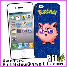 Case  jigglypuff de pokemon en #pixelart Te elaboramos cualquier diseño de videojuegos. Más información en bit8dos@gmail.com