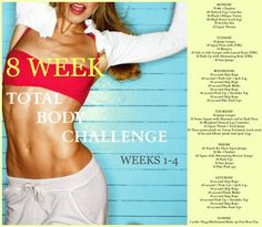 Weeks 1-4 of the 8 Week Total Body Challenge