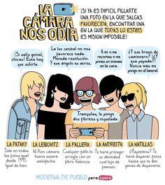 ¡Foto de grupo! Definición gráfica de mis amigas y yo (Ana, Adri, yo, Paula y Marta respectivamente)