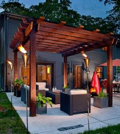 How a pergola can take a patio from ho hum to perfection. See more with tutorials here.