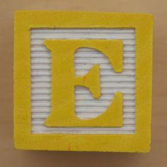 Educational Brick Letter E by Leo Reynolds, via Flickr