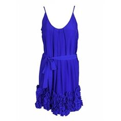 AJM Fashions: Charlie Jade womens yuki belted ruffle bottom silk dress....Nikki Reed would love this. It's her favorite color:)