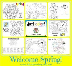 Welcome Spring - Just Color! FREEbie