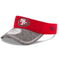 San Francisco 49ers New Era On Field Training Camp Adjustable Visor - Red