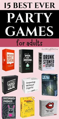The best party games for adults! | game night games, drinking card games, adult party games, funny card games, dinner party games, fun inappropriate party games, party games for millennials, group card games for parties, cocktail party games for adults, fun things to do at home with friends, crazy things to do with friends, How to Keep Everyone at Your Party Entertained, How to Entertain Friends at Home, indoor party games, games to play at home when bored | #cardgames #partygames #games