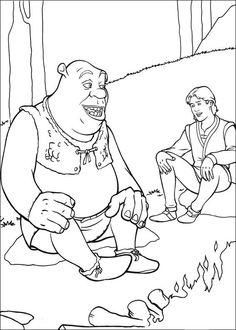Shrek Kleurplaten voor kinderen. Kleurplaat en afdrukken tekenen nº 26