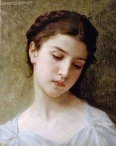 Etude : tete de jeune fille (Study : head of a young girl) by William-Adolphe Bouguereau. Handmade oil painting reproductions for sale, Always custom made on premium grade canvas by talented artists. William Adolphe Bouguereau, Figure Painting, Painting & Drawing, Art Gallery, Oil Painting Reproductions, Detail Art, Beautiful Paintings, Female Art, Art History
