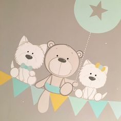 Baby Drawing, Drawing For Kids, Art For Kids, Kids Room Murals, Baby Posters, Cute Cartoon Characters, Baby Painting, Baby Art, Boho Baby