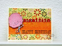 Cute! I have this stamp and paper.