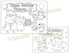 Markers and Coloring Activity Boards ~ Plus Separately Licensed 3X3 Inch Reward Prize Stickers Included Peppa Pig Coloring Pop-Outz Party Favors with Stickers