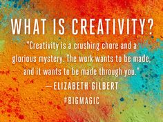 Can't wait till Sept to read Elizabeth Gilbert's new book on creativity.... I've loved the advice she's given on her website and in TED Talks and presentations over the years...
