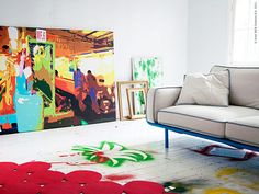 IKEA PS 2012 Picture IKEA Motif created by Anna Efverlund. With a large picture you can create mood and atmosphere in a whole room. Design Blog, Deco Design, Ikea Ps 2012, Architecture Design, Brick And Wood, Ikea Sofa, Contemporary Interior Design, Decoration, Interior Inspiration