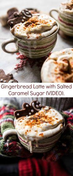 Gingerbread Latte with Salted Caramel Sugar (VIDEO)   halfbakedharvest.com @hbharvest